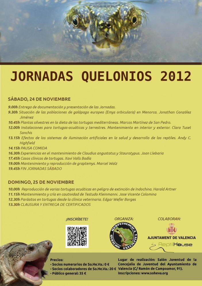 cartel 1024 703x994 Jornadas Quelonios 2012: toda la información aquí.