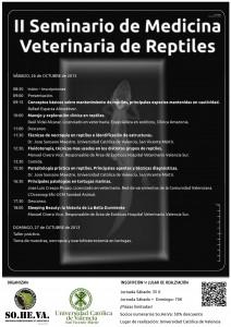 cartel jornadas peq 212x300 II Seminario de Medicina Veterinaria de reptiles