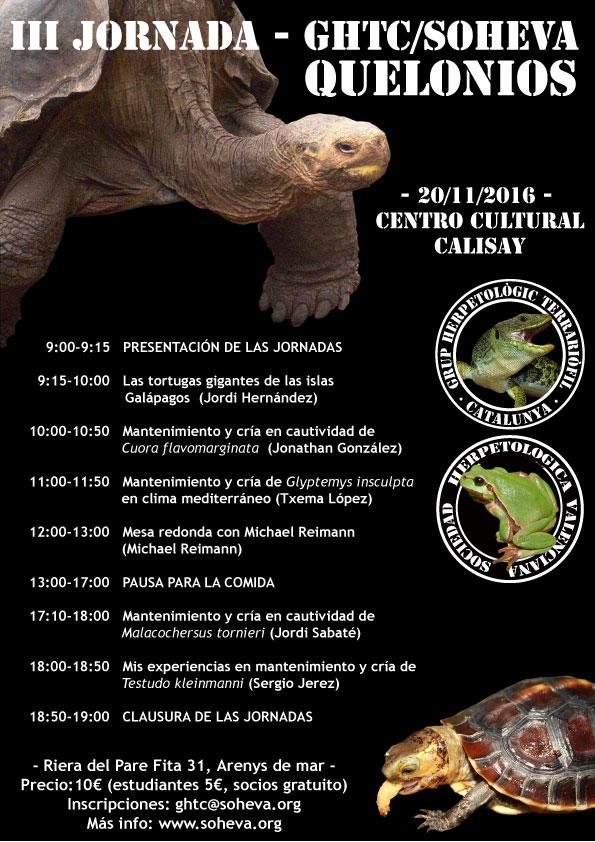 cartell 3era trobadaCAST1 Jornada Quelonios, este año en Arenys de Mar