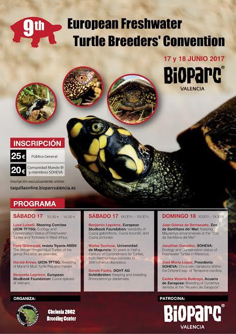 cartel bioparc 9ª Convención de especialistas en tortugas de agua dulce